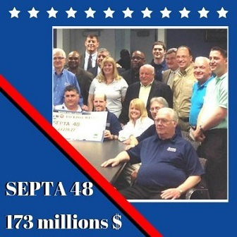 SEPTA 48 de Pennsylvannie, 107,5 millions de dollars