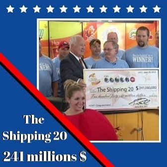 The Shipping 20 d'Iowa, 241 millions de dollars